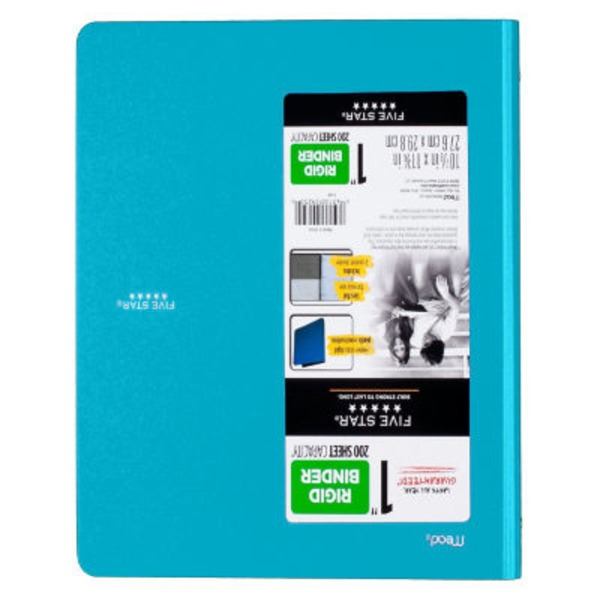Mead Five Star Binder Rigid Plastic with Two Pockets, 1