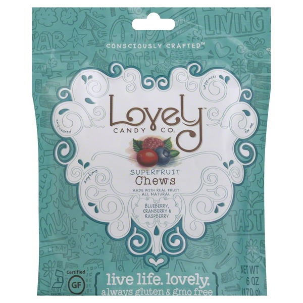Lovely Candy Chews, Superfruit, Blueberry, Cranberry & Raspberry