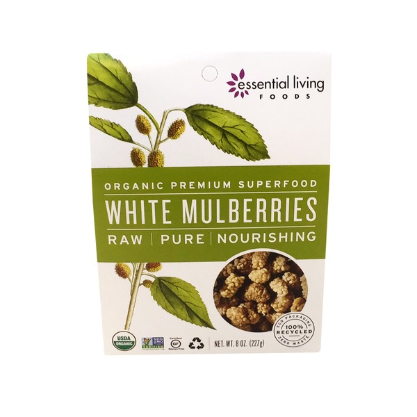 Essential Living Foods Organic Raw White Mulberries