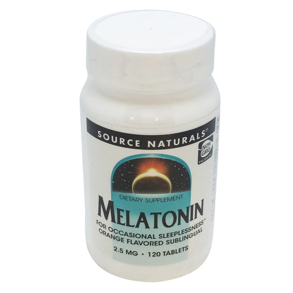 Source Naturals Melatonin 2.5 Mg Sublingual Orange Tablets
