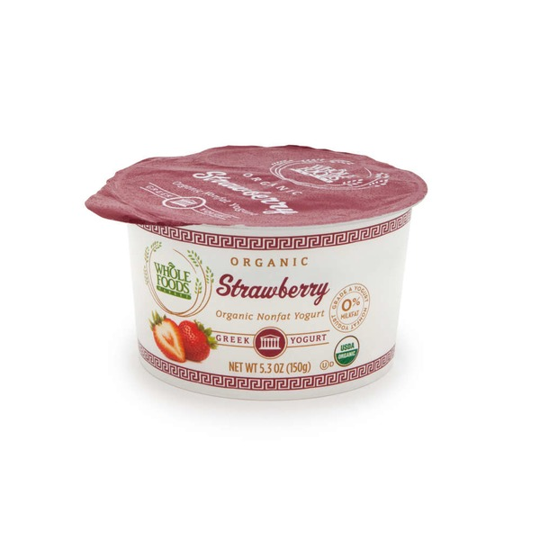 Whole Foods Market Organic Strawberry Nonfat Greek Yogurt