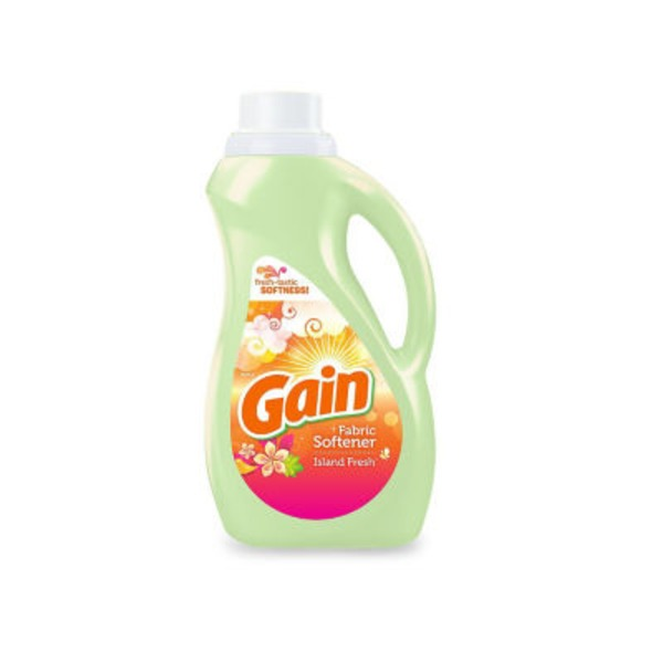 Gain Liquid Fabric Softener, Island Fresh Scent, 60 loads, 51 fl oz Fabric Enhancers