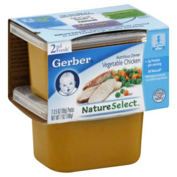 Gerber Vegetable Chicken Nutritious Dinner 2nd Foods