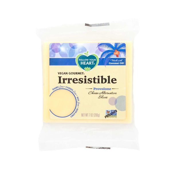 Follow Your Heart Irresistible Dairy Free Slices Provolone Style Cheese Alternative