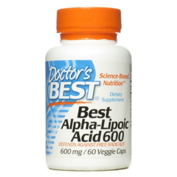 Doctor's BEST Best Alpha-Lipoic Acid 600 Veggie Caps - 60 CT