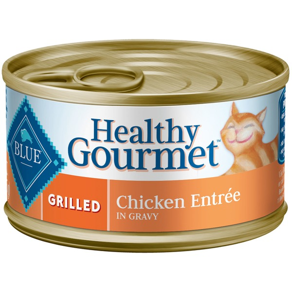 Blue Buffalo Food for Cats, Natural, Grilled, Chicken Entree in Gravy