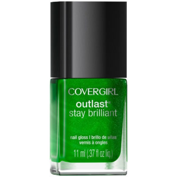 CoverGirl Outlast Stay Brilliant COVERGIRL Outlast Stay Brilliant Nail Gloss, Emerald Blaze .37 fl oz (11 ml) Female Cosmetics