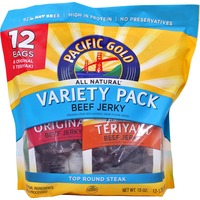 Pacific Gold Original And Teriyaki Beef Jerky Individual Serving Packs
