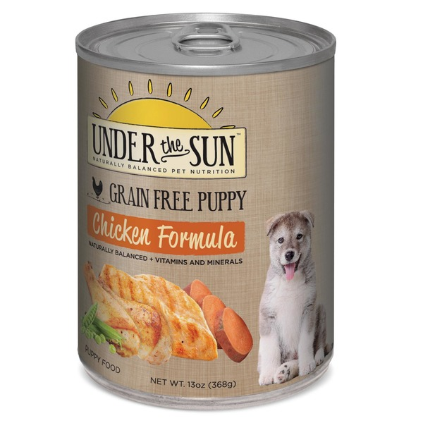 Under The Sun Grain Free Chicken Canned Puppy Food Case Of 12 13 Oz.