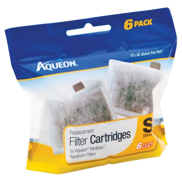 Aqueon Mini Bow Replacement Filter Cartridges Pack Of 6 Cartridges