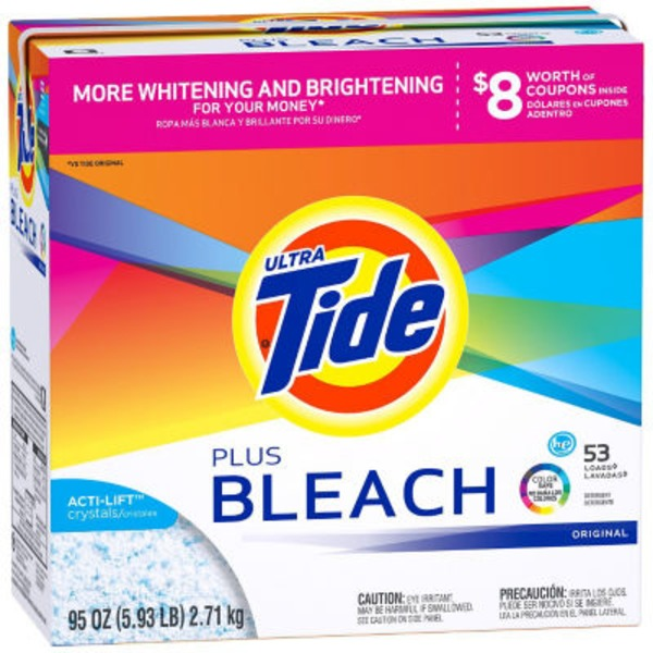 Tide Powder Ultra Original Scent Laundry Detergent with Bleach - 53 Loads 95 oz Laundry