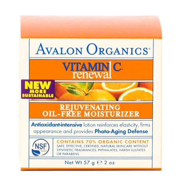 Avalon Organics Rejuvenating Oil-Free Moisturizer Vitamin C Renewal