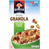 Quaker Natural Cereal Simply Granola Oats, Apples, Cranberries & Almonds Cereal