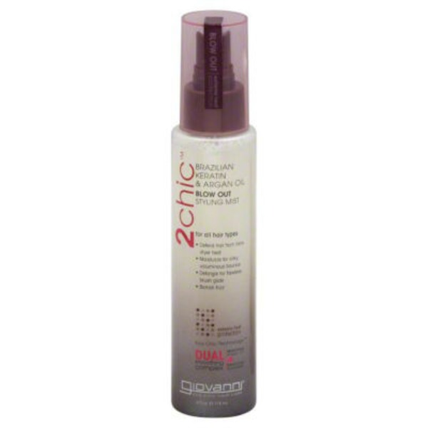 Giovanni 2chic Brazilian Keratin & Argan Oil Ultra-Sleek Blow Out Styling Mist