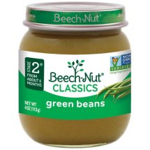 Beech-Nut Stage 2 Tender Young Green Beans Baby Food, 4 oz