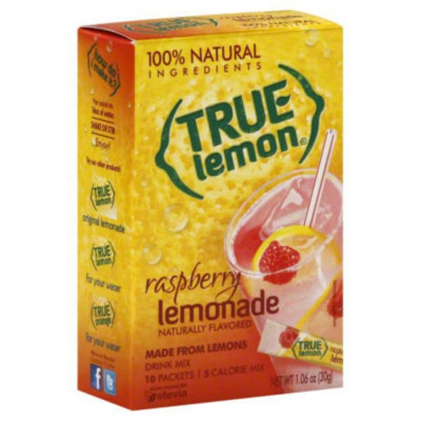 True Lemon Raspberry Lemonade Drink Mix