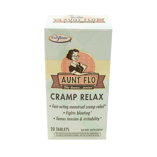 Enzymatic Aunt Flo Cramp Relax Tablets