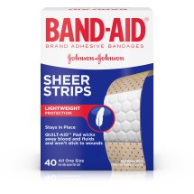 Band-Aid Brand Adhesive Bandages Sheer, All One Size, 40 ct