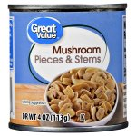 Great Value Pieces & Stems Mushrooms, 4 oz