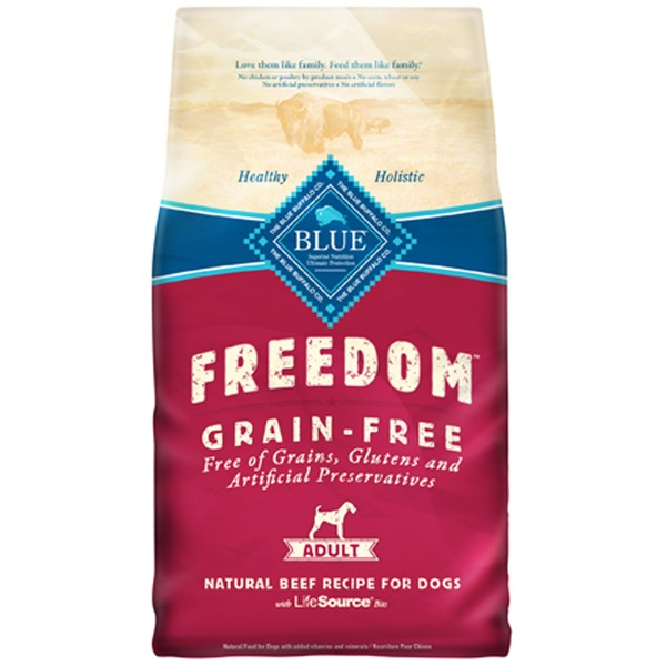Blue Buffalo Freedom Grain Free Beef Recipe Adult Dog Food 4 Lbs.