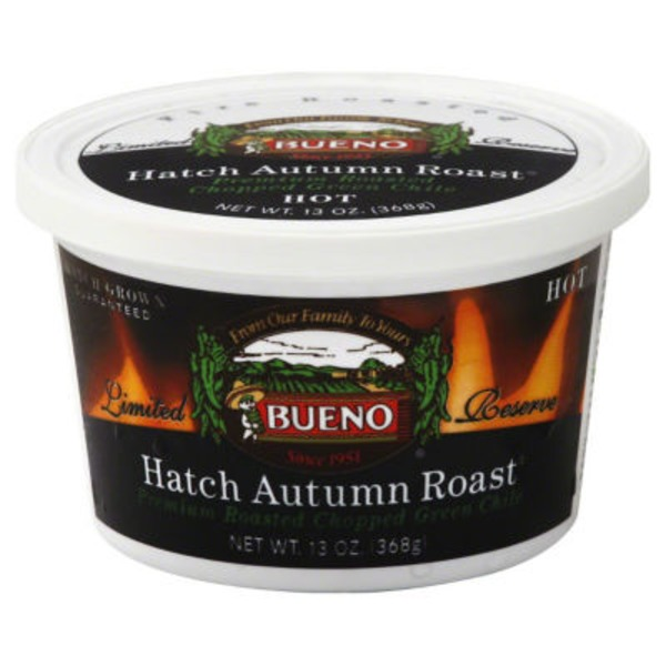 Bueno Green Chile, Hatch Autumn Roast, Hot