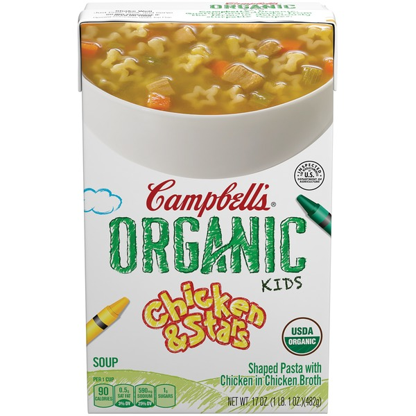 Campbell's Organic Kids Chicken & Stars Soup