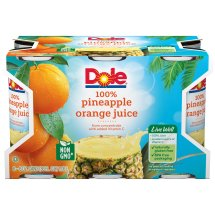 Dole Fruit Juice, Pineapple Orange, 6 Fl Oz, 6 Count