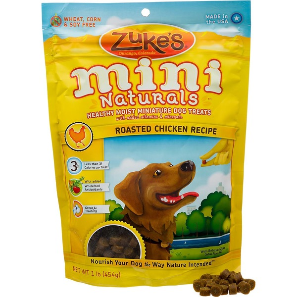 Zuke's Mini Natural's Healthy Moist Miniature Dog Treat Roasted Chicken Recipe