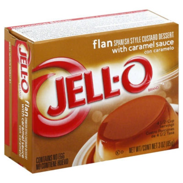 Jell-O Flan with Caramel Sauce Spanish Style Custard Dessert Mix