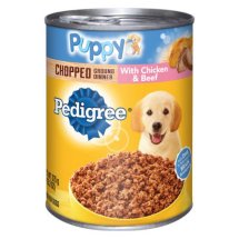 Pedigree Puppy Chopped Ground Dinner With Chicken & Beef Wet Dog Food, 13.2 Oz.