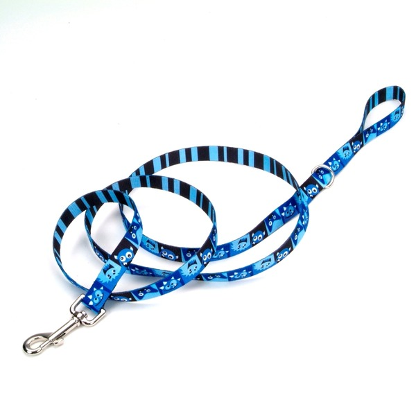 Petco Blue Happy Monster Dog Leash 3/4
