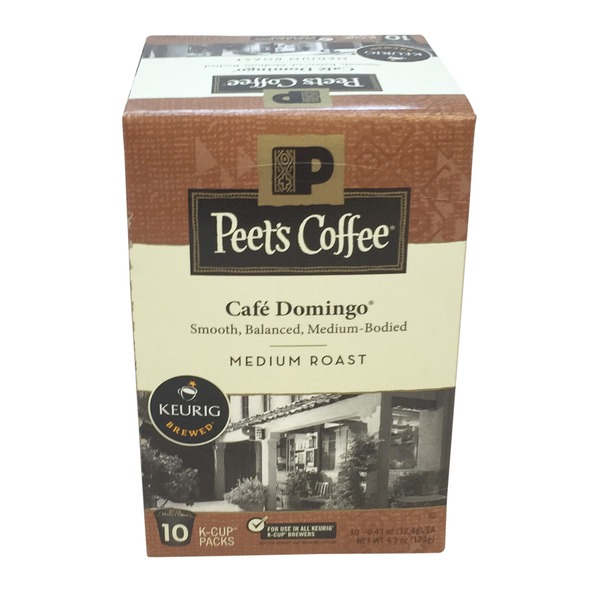 Peet's Coffee & Tea Cafe Domingo Single Serve Cups Medium Roast Coffee