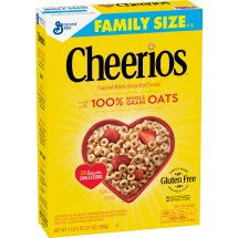 Cheerios Gluten Free Breakfast Cereal, 21 oz, Family Size Cereal Box, 21.0 OZ
