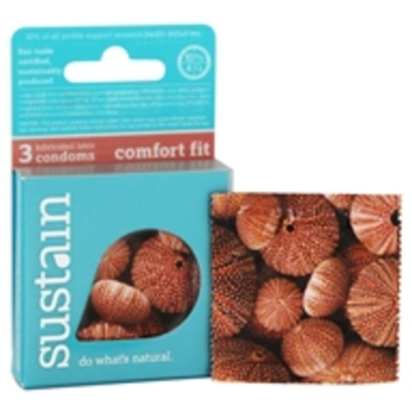 Sustain Lubricated Comfort Fit Condoms