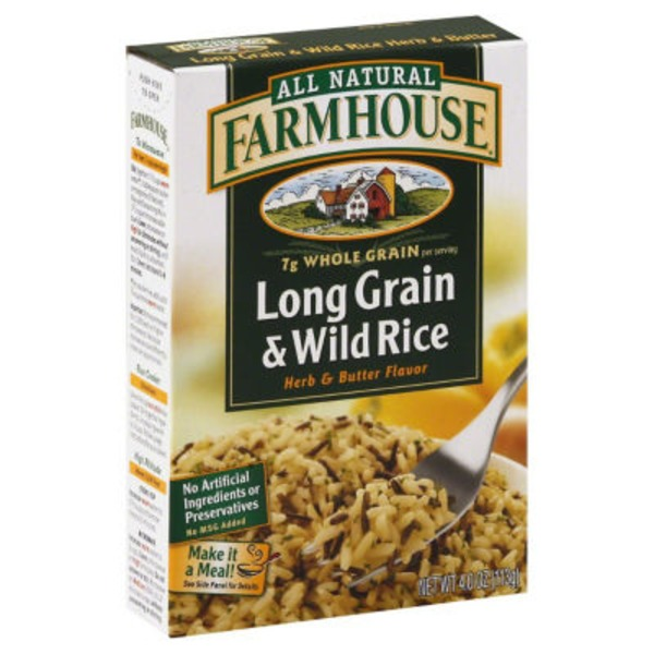 Farmhouse Rice, Long Grain & Wild, Herb & Butter Flavor