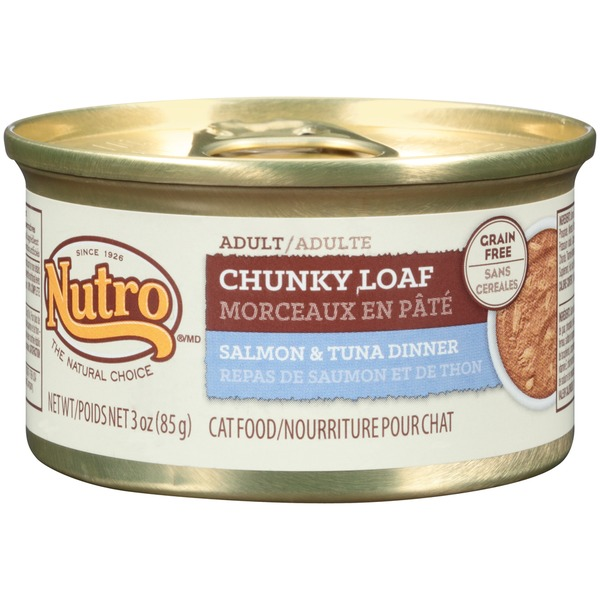 Nutro Adult Chunky Loaf Salmon & Tuna Dinner Cat Food