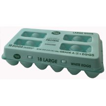 Great Value Large Grade A Eggs, 18 ct