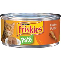 Purina Friskies Classic Pate Poultry Platter Cat Food 5.5 oz. Can