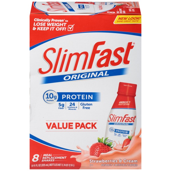 Slimfast Original Strawberries and Cream Meal Replacement Shake