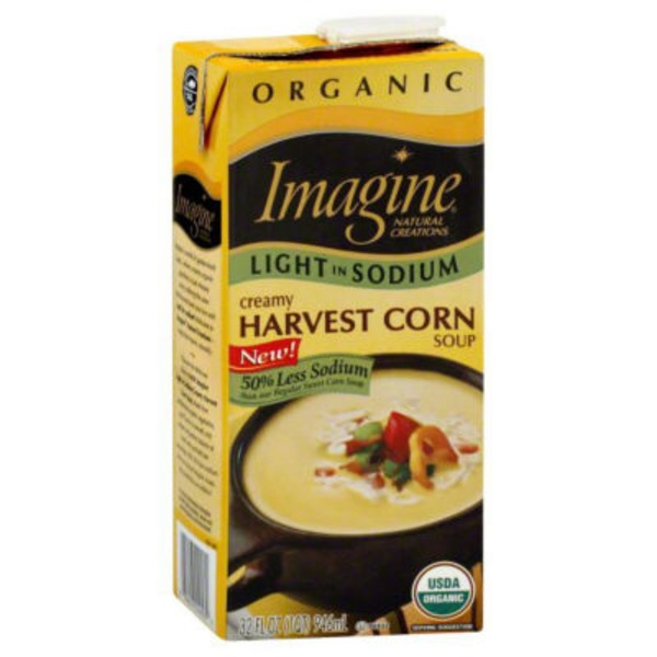Imagine Foods Organic Light In Sodium Soup Creamy Harvest Corn
