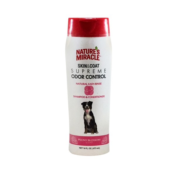 Nature's Miracle Dog Odor Control Peony Blossom Shampoo & Conditioner
