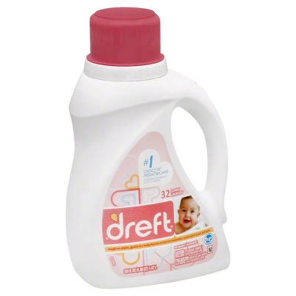 Dreft For High Efficiency Machines Baby Liquid Laundry Detergent 32 Loads 50 Fl Oz Laundry