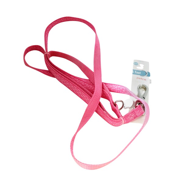 Petco Pink & White Dotted Dog Leash