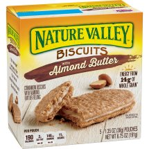 Nature Valley Biscuits, Almond Butter, Breakfast Biscuits with Nut Filling, 5 Bars, 1.35 OZ
