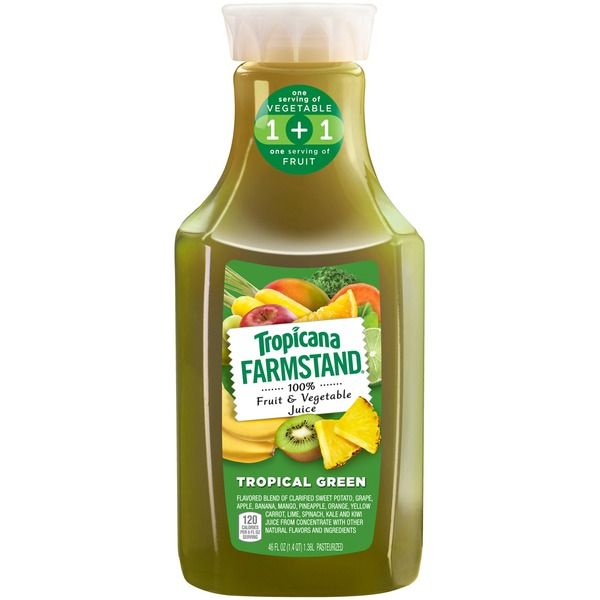 Tropicana Farmstand Tropical Green 100% Fruit & Vegetable Juice