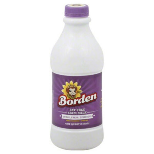 Borden Milk, Skim, Fat Free