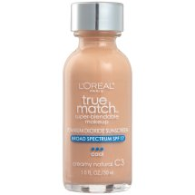 L'Oreal Paris True Match Super Blendable Makeup Foundation, C3 Creamy Natural, 1.0 fl oz