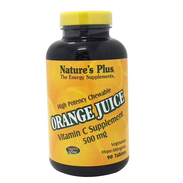 Nature's Plus Orange Juice Vitamin C 500 Mg