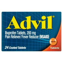 Advil Pain Reliever/Fever Reducer, 200mg Ibuprofen, 24 Ct