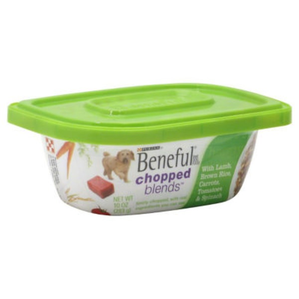 Beneful Chopped Blends With Lamb Brown Rice Carrots Tomatoes & Spinach Dog Food